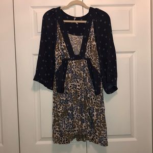 Free People dress with pockets and deep v